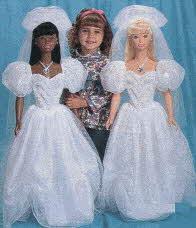 Barbie brides of the nineties