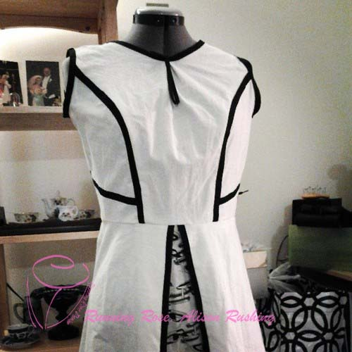 dress sewing project: little white dress