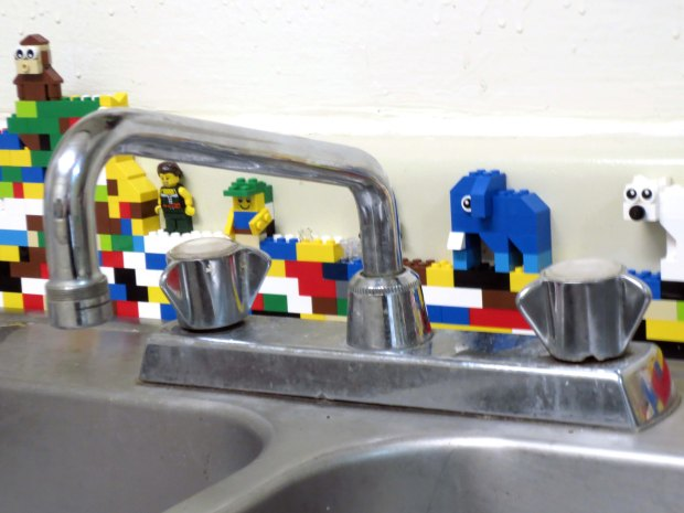 Lego kitchen back splash