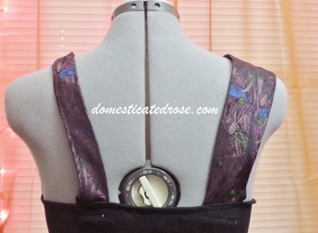 necktie camisole trim back